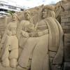 Un Belén de 500 toneladas de arena en la playa